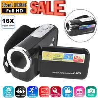 """Full HD 1080P 16MP 2"""" 16x Zoom Digital Video Camera HD Camcorder Mini DV DVR DT"""