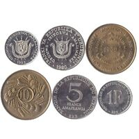 3 COINS FROM BURUNDI. SINCE 1966, UNC. 1, 5, 10 FRANCS. EAST AFRICAN COINS