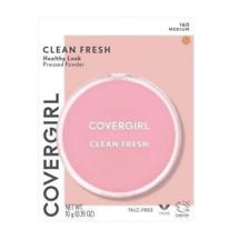 2 Pack Covergirl Clean Fresh Healthy Look Pressed Powder, 160 Medium