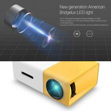 YG300 Mini HD 1080P LED Projector Home Theater Cinema HDM USB AV For Laptop PC