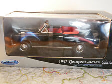WELLY 1957 PEUGEOT 403 CABRIOLET BLACK 1:18  ART. 12551W  NEW