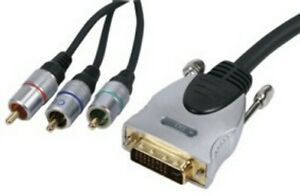 DVI-I DIGITAL COMPONENT CONNECTION, DVI-I MALE TO 3RGB COMPONENT MALE CABLE 20M