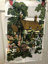 Country Cottage - Linen tea towel - Irish Linen - for National Trust by Lee Kay
