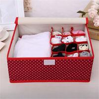Underwear Bra Socks Ties Divider Closet Container Storage Box Organizer S