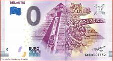Freizeitpark BELANTIS 2019-1 Null € 0-Euro-Schein Banknote Souvenirschein