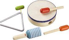 Haba Rhythmik-Set Kinder Musikinstrumente Schlagzeug und Schlagwerk Spielzeug