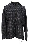 Hope & Honey Women's Plus Sz 2X Windbreaker Polka Dots Black / White
