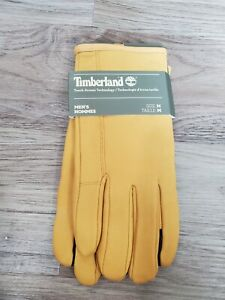 Timberland Gloves Size M Tan Workwear Nubuck Touch Screen