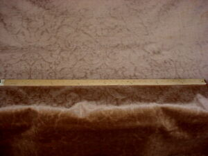 6-3/8Y DONGHIA RUBELLI BRONZE FLORAL EMBOSSED VELVET UPHOLSTERY FABRIC