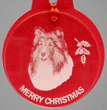 Shetland Sheepdog Dog Ornament, Lucite,