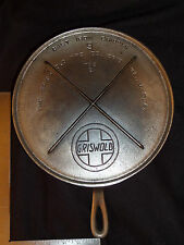 Rare GRISWOLD Cast Iron Nickel Plated # 9 Slant Logo # 739 B Griddle  ((#3110))