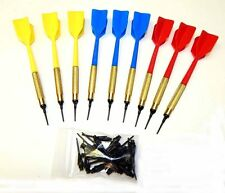 Soft Tip Brass House Darts - Set of 9 With 24 Free Replacement Tips