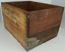 Vtg Three Crown Tawny Port Wine SV Borges & Irmao Wood Crate Popper Morson Co