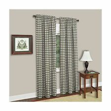 Achim Home Furnishings Buffalo Check Curtain Panel 42-Inch by 84-Inch, Sage, New