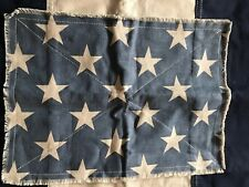 Pottery Barn Stars & Striped Pillow Cover Blue Ivory NEW 24 x 24