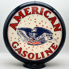 """AMERICAN EAGLE GASOLINE 13.5"""" Gas Pump Globe  SHIPS FULLY ASSEMBLED! MADE IN USA"""