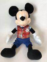 "Mickey Mouse by Disney Parks Host Plush Plaid Vest 15"" Disneyland Plus Park Star"