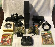 Microsoft Xbox 360 S 4GB Bundle Console, 3 Controllers, Kinect, 28 Games Working