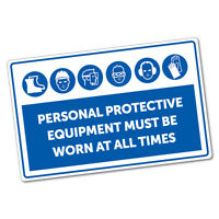 Personal Protective Equipment Must Be Worn Sticker Decal Safety Sign Car Viny...