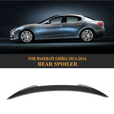 Carbon Fiber Rear Trunk Spoiler Wing Factory fit for Maserati Ghibli 2014-2016