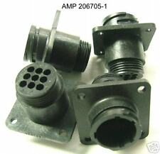 ( 4 PC ) AMP/TYCO CONNECTOR 206705-1 9/C FEMALE