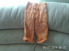 Girls 2-3 Years - Orange/Peach Embroidered Summer Trousers/ Roll-Ups - Next