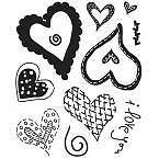 Clear Stamps SUGAR RUSH HEART THROB Stamp By Basic Grey