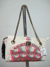 FUN IS NOT EXPENSIVE borsa donna mod.CORONA col.BEIGE/MULTICOLOR ESTATE 2013