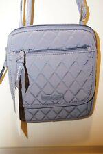 New Vera Bradley Mini Hipster Crossbody Bag CARBON GRAY Microfiber Retail $69