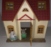 Calico Critters Cottage Dalmatian Dog And Handy Dandy Mouse Lot