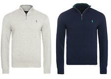 Maglione da uomo Polo Golf Ralph Lauren zip manica lunga cottone leggero 100%
