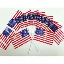 Pack Of 72, Small Plastic American Flags 4x6 Inch/Small Us Flag/Mini Stick &amp