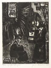 Hermann Naumann-a Kafka-ante la ley-aguafuerte 1955