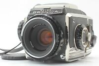 【NEAR MINT】 Zenza Bronica S2 Late Model w/ Nikkor P 75mm f2.8 Lens From JAPAN