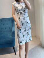 AUTH Ted Baker NOLLA Elderflower Belted Bodycon Dress White 0-4