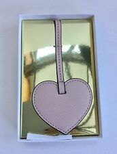 Michael Kors Nude Pale Pink Heart Tag Bag Charm New with Tags Boxed Only 1