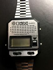 WATCH-0MNI VOICE MASTER 3 IN ONE TALKING VINTAGE-1980-NEVER WORN-REDUCED-