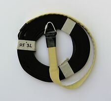 """3/4"""" Tubular Nylon High Power Rocketry Recovery Harness Sleeved 3 Presewn Loops"""