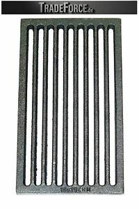 Robuster Ofenrost 16x28 cm eckig Gussrost Feuerrost Kaminrost Ascherost EU Made