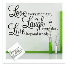 Live Laugh Love Butterflies Quote Wall Decal Removable Wall Stickers Decor WE9X