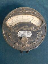 Antique Weston Electric Voltmeter 1901 Iron
