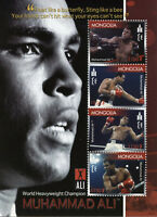 Mongolia Boxing Stamps 2007 MNH Muhammad Ali Famous People Sports 4v M/S I