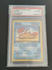 Krabby | PSA 10 GEM MINT | 1999 Fossil 1st Edition #51 | Pokemon