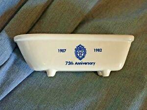 "THE PLAZA HOTEL New York City 1907 - 1982 75th Anniversary 7"" Bathtub Soap Dish"