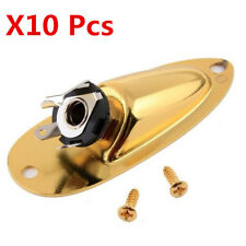 10Pcs Gold Output Jack Cup Plate Socket for Strat Style Guitar