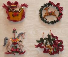 Dekohänger Set 4-tlg. ★ Weihnachten ★ Nostalgie Christmas Ornament NOËL