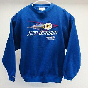 Jeff Gordon Size L Blue Pullover Sweater Nascar Racing Sweatshirt Vintage