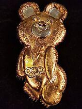 UdSSR Bär Metallfigur Olympiade Moskau 80 Russland Russia Olympic Bear Wandfigur