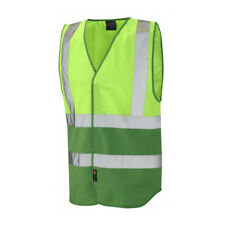 LEO WORKWEAR Warnweste Dual Colour Reflective Waistcoat PILTON lime / grün G. XL