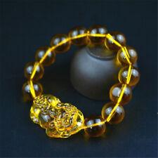 1pc 10mm Feng Shui Citrine Yellow Pi Yao Pi Xiu Bracelet Bead for Wealth Luck